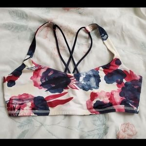 Lululemon Free To Be Bra Inky Floral Ghost Inkwell